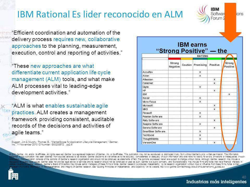 IBM Rational Es lider reconocido en ALM