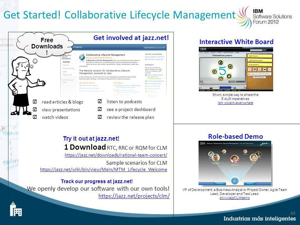 Get Started! Collaborative Lifecycle Management