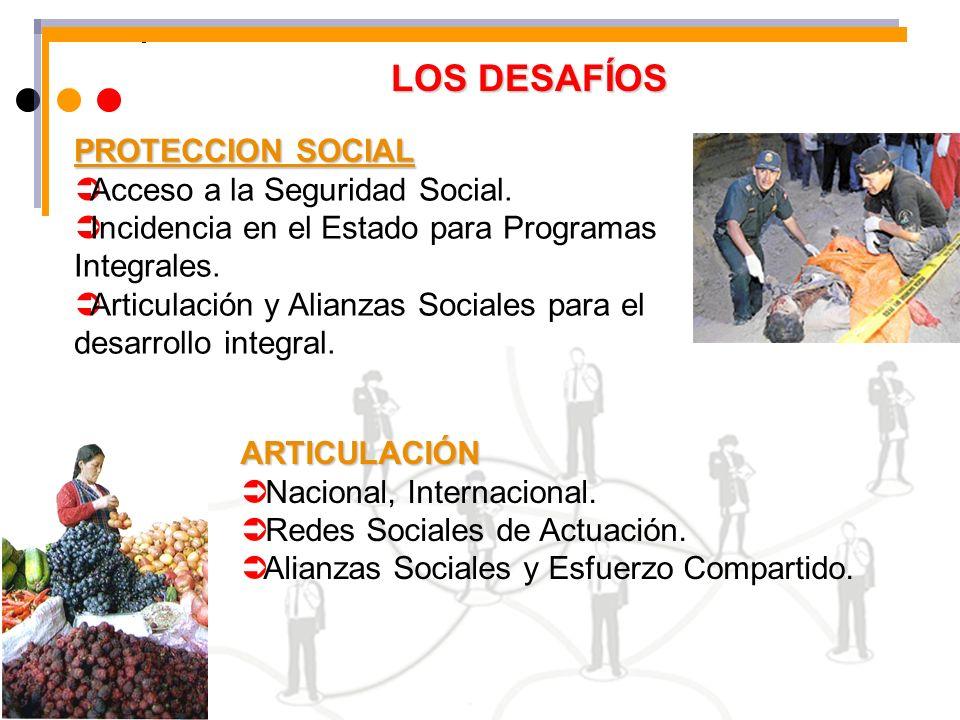 LOS DESAFÍOS PROTECCION SOCIAL Acceso a la Seguridad Social.