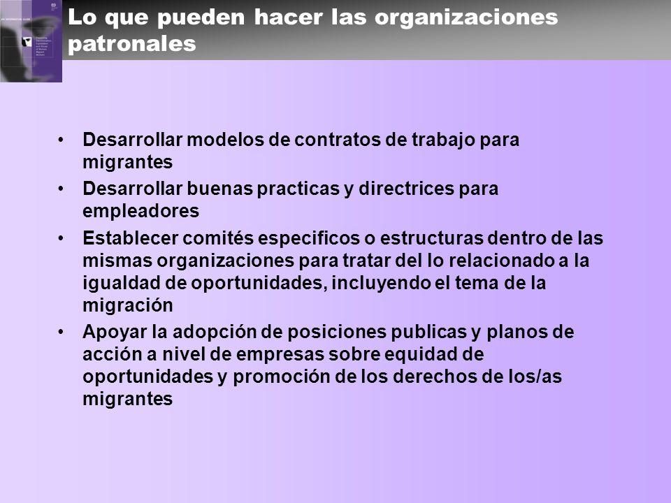 Lo que pueden hacer las organizaciones patronales