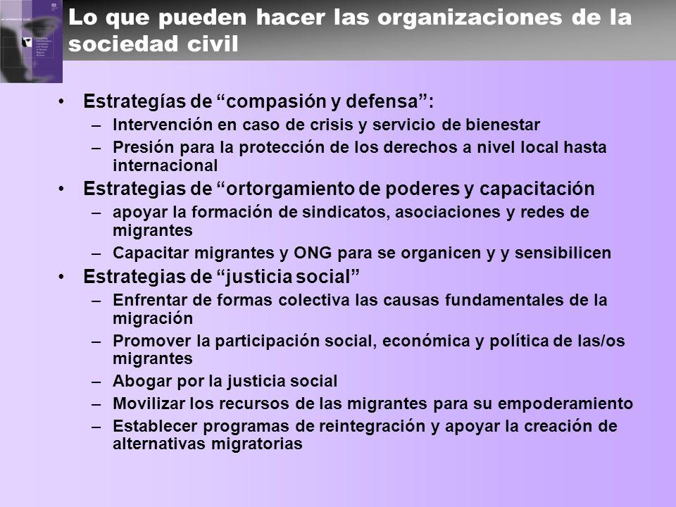 Lo que pueden hacer las organizaciones de la sociedad civil