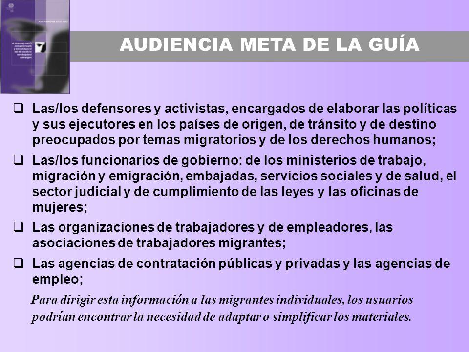 AUDIENCIA META DE LA GUÍA
