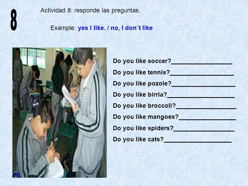 8 Actividad 8: responde las preguntas.