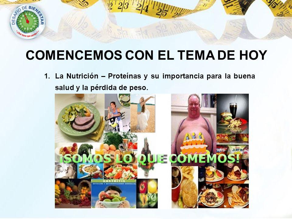 Ahora, hablemos sobre nutrición COMENCEMOS CON EL TEMA DE HOY