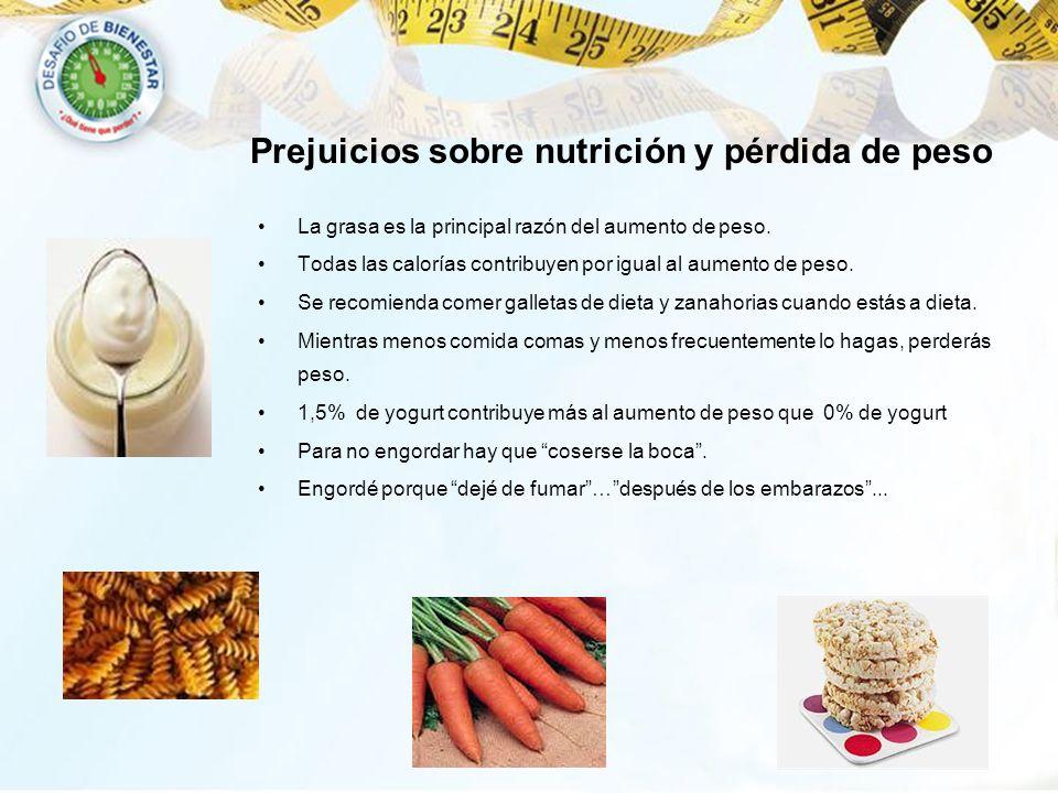 Prejuicios sobre nutrición y pérdida de peso