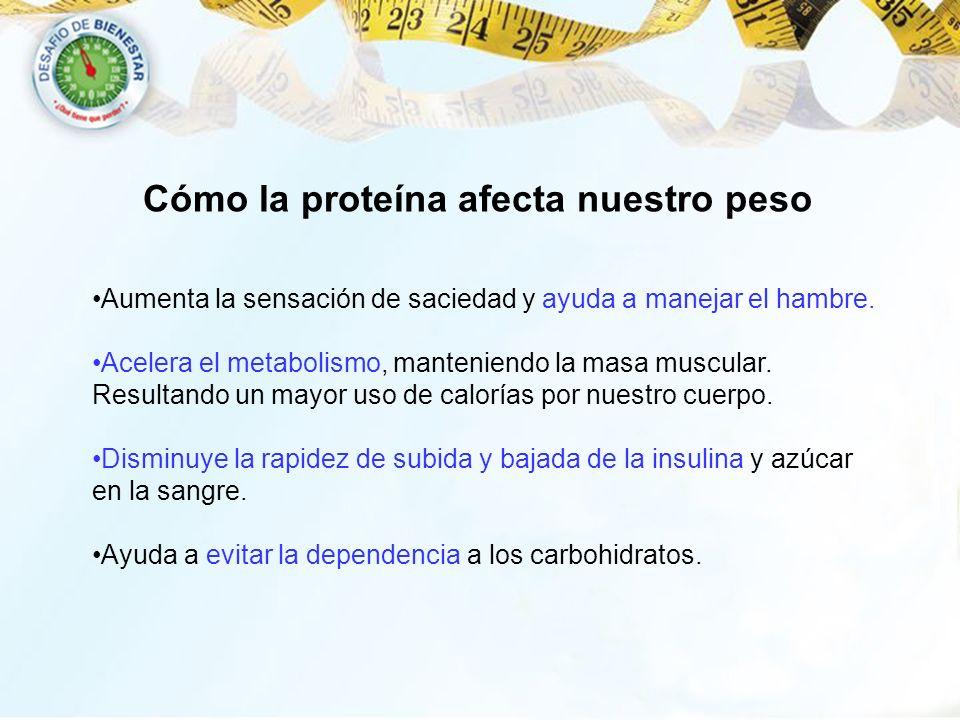 Cómo la proteína afecta nuestro peso