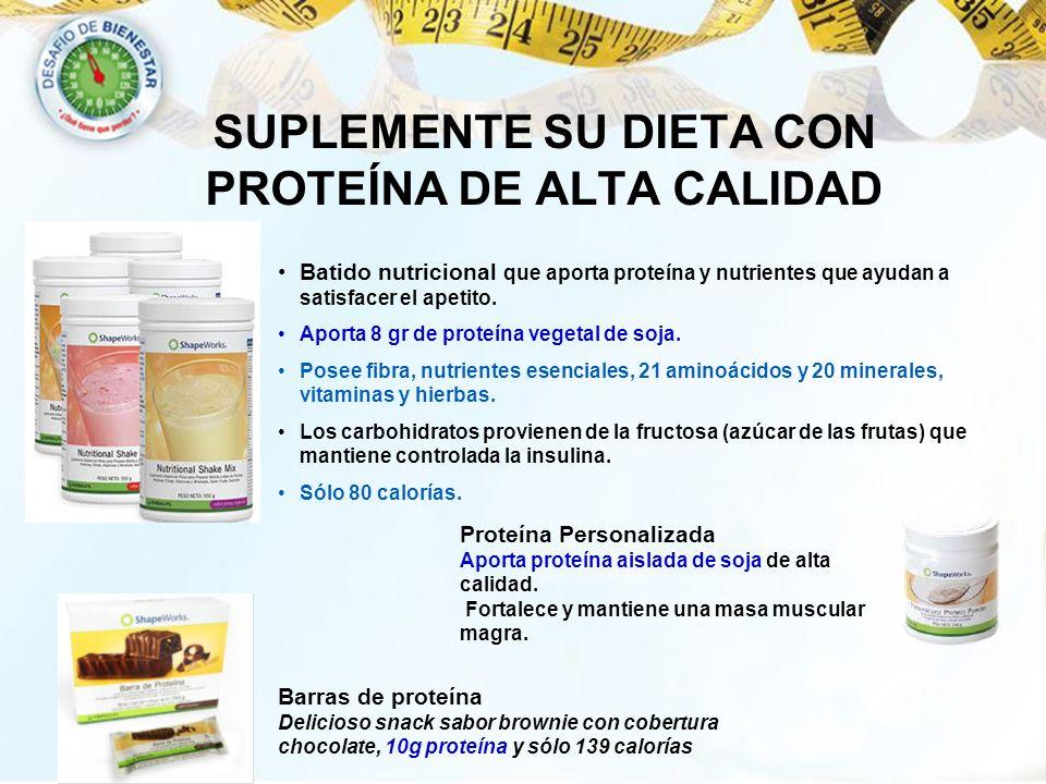 SUPLEMENTE SU DIETA CON PROTEÍNA DE ALTA CALIDAD