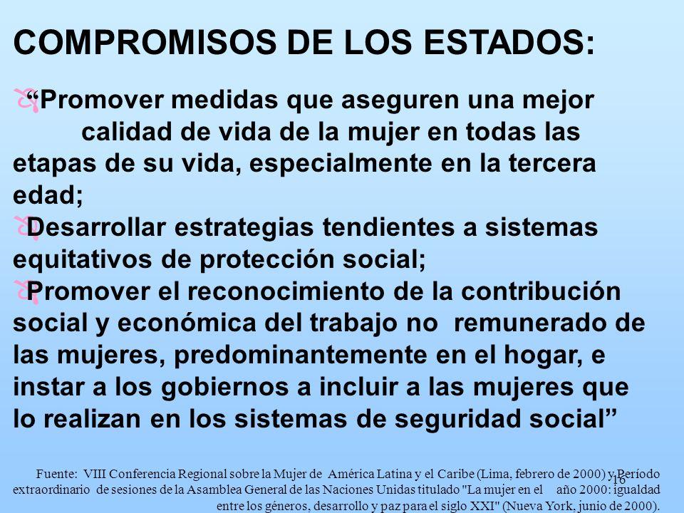 COMPROMISOS DE LOS ESTADOS: