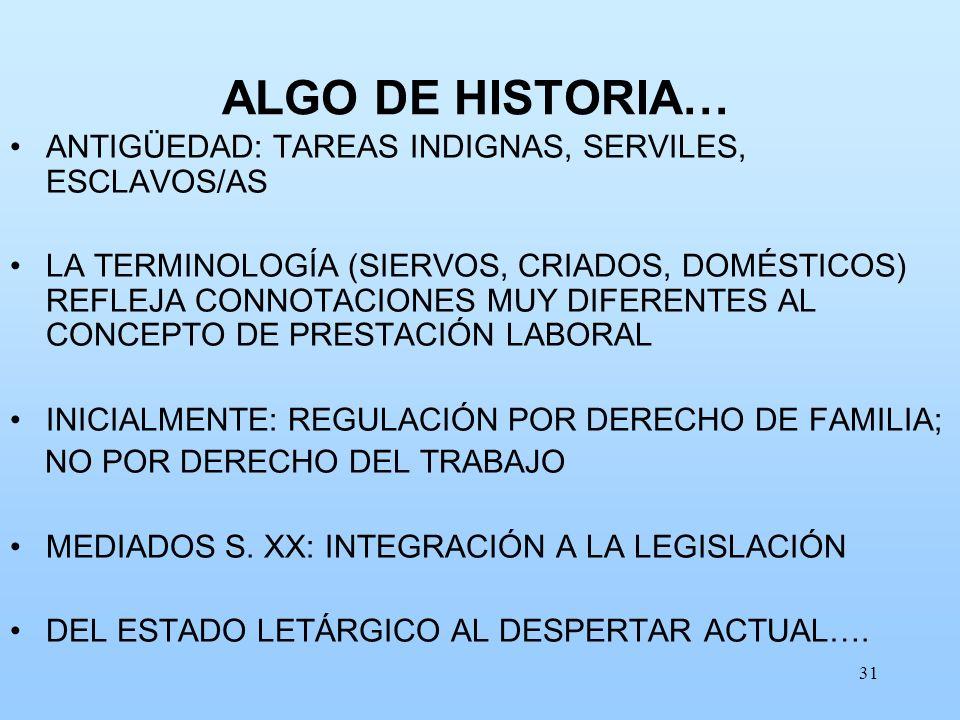 ALGO DE HISTORIA… ANTIGÜEDAD: TAREAS INDIGNAS, SERVILES, ESCLAVOS/AS