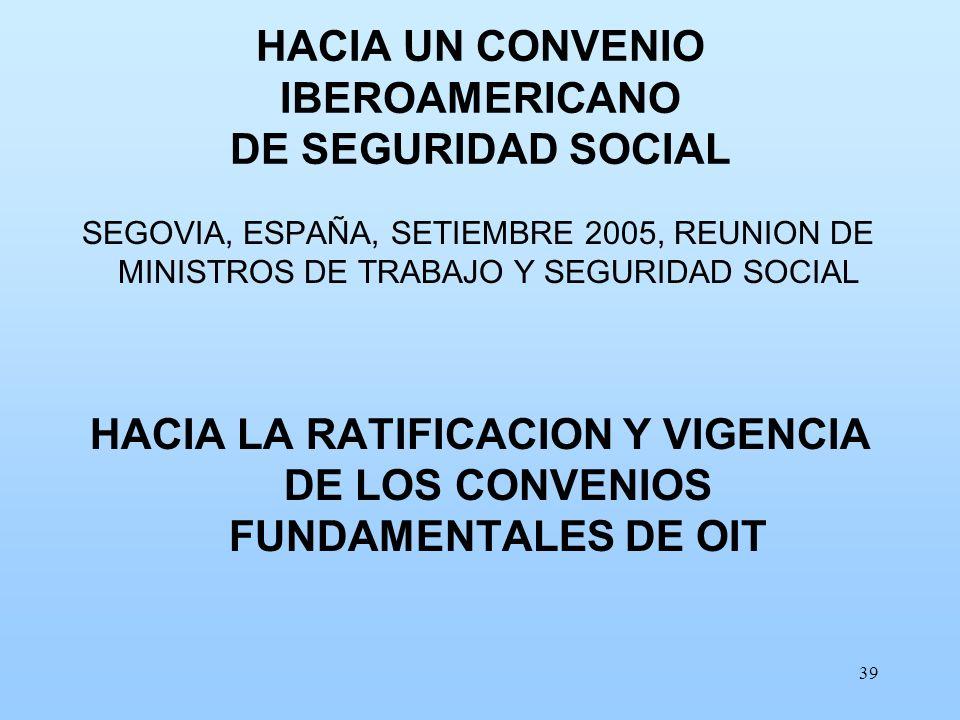 HACIA UN CONVENIO IBEROAMERICANO DE SEGURIDAD SOCIAL