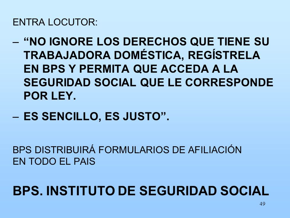 BPS. INSTITUTO DE SEGURIDAD SOCIAL