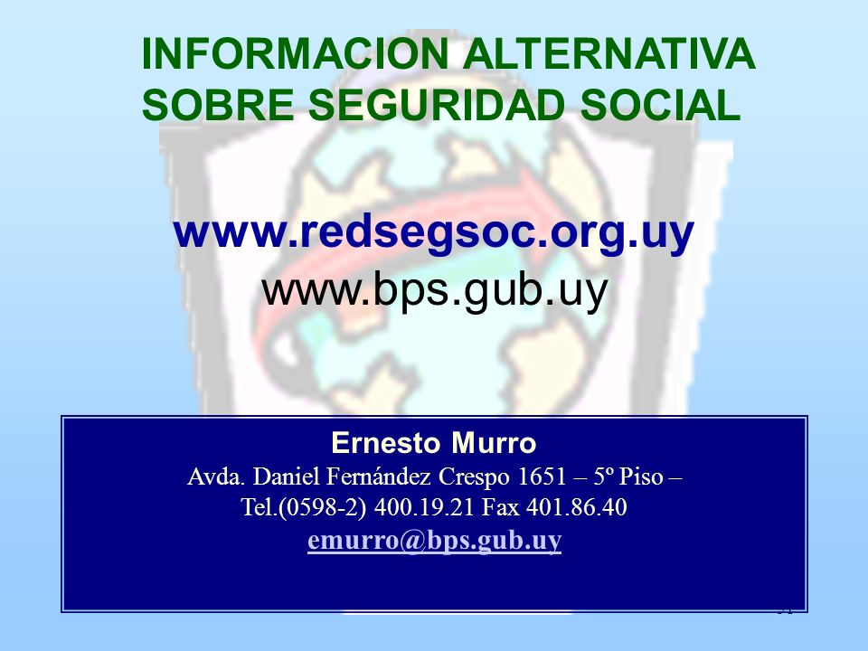 INFORMACION ALTERNATIVA SOBRE SEGURIDAD SOCIAL