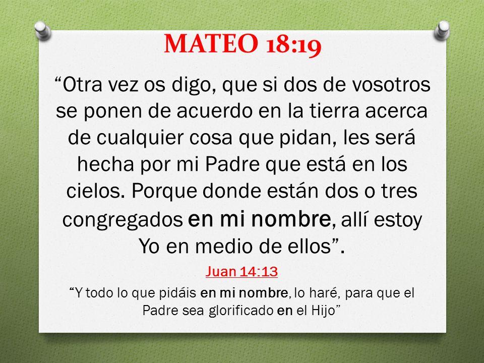 MATEO 18:19
