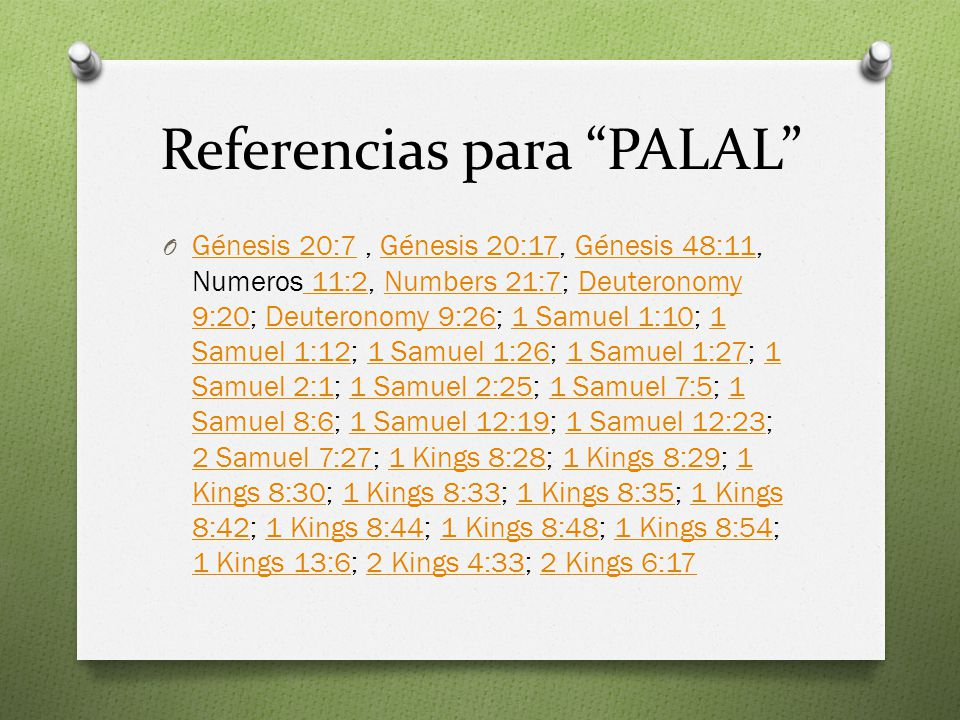 Referencias para PALAL