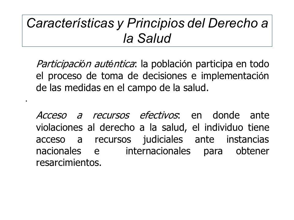 Características y Principios del Derecho a la Salud