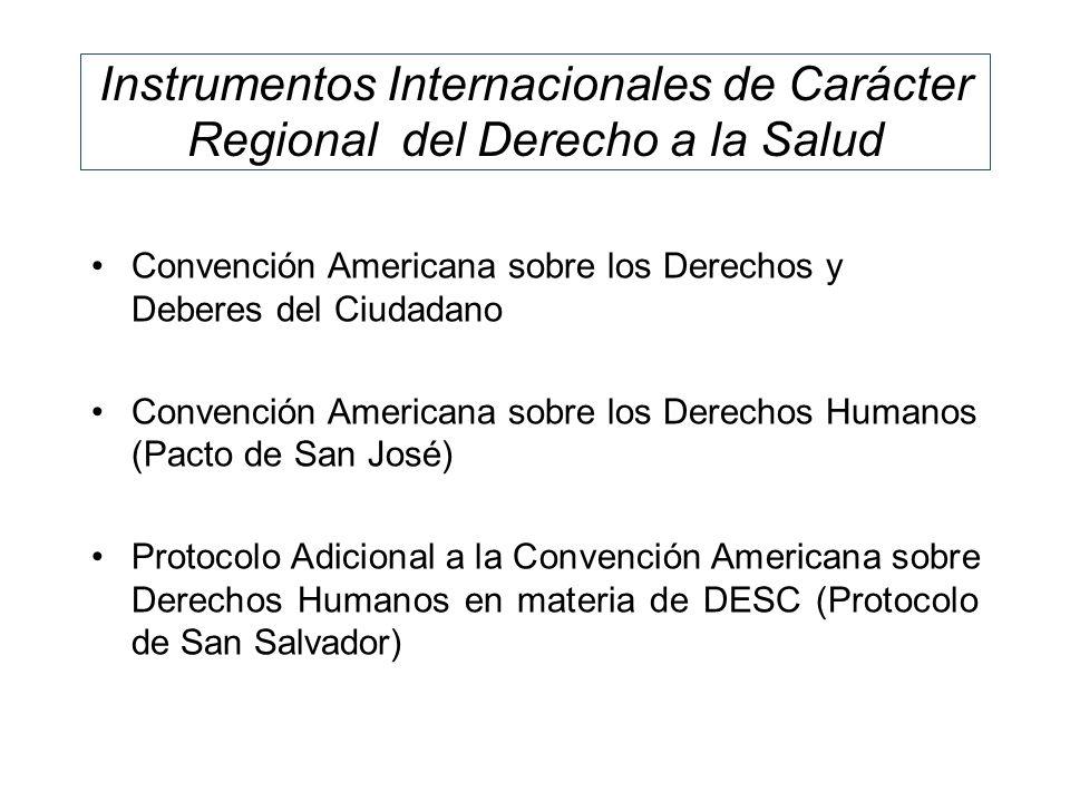 Instrumentos Internacionales de Carácter Regional del Derecho a la Salud