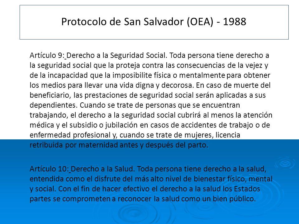 Protocolo de San Salvador (OEA) - 1988