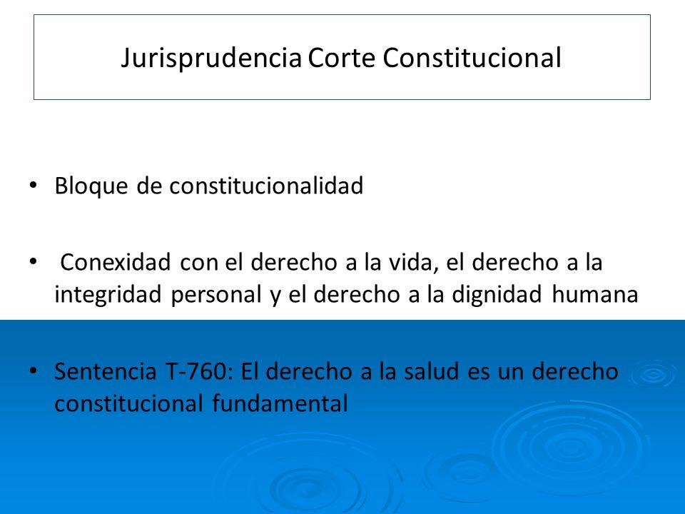 Jurisprudencia Corte Constitucional
