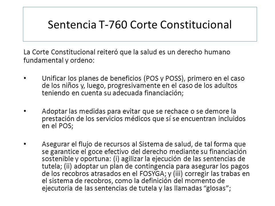 Sentencia T-760 Corte Constitucional