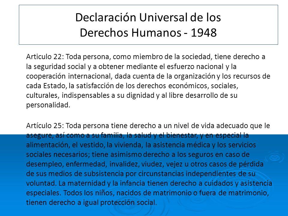 Declaración Universal de los Derechos Humanos - 1948
