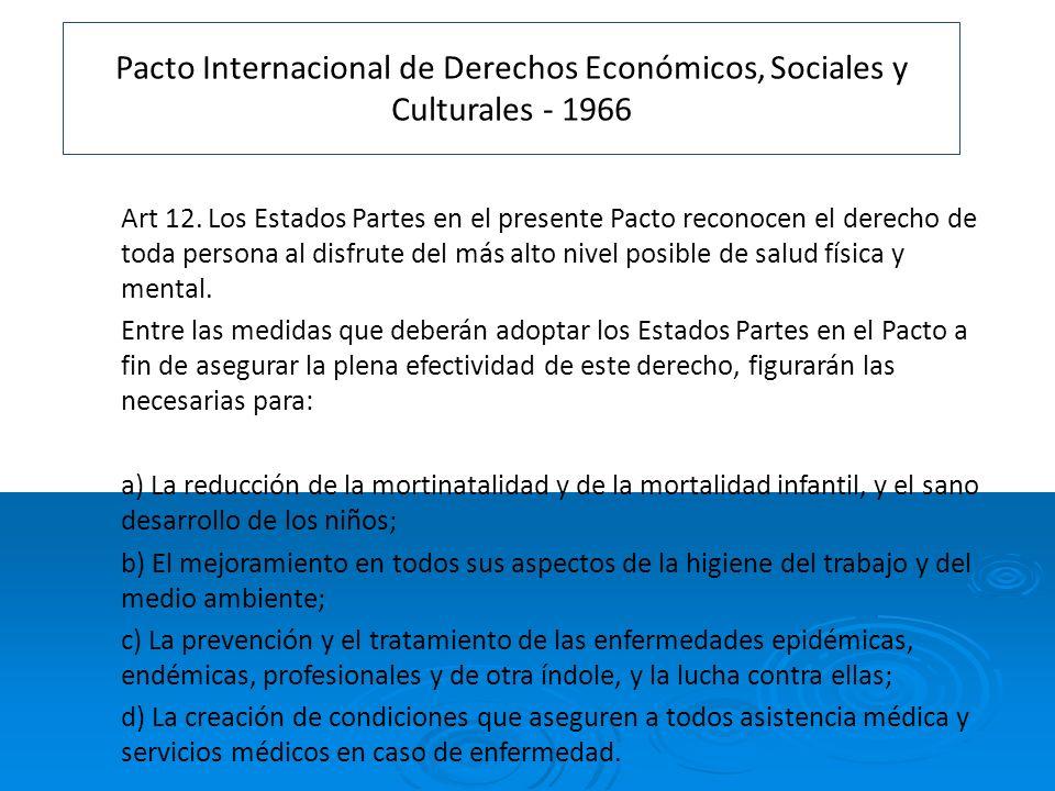 Pacto Internacional de Derechos Económicos, Sociales y Culturales - 1966