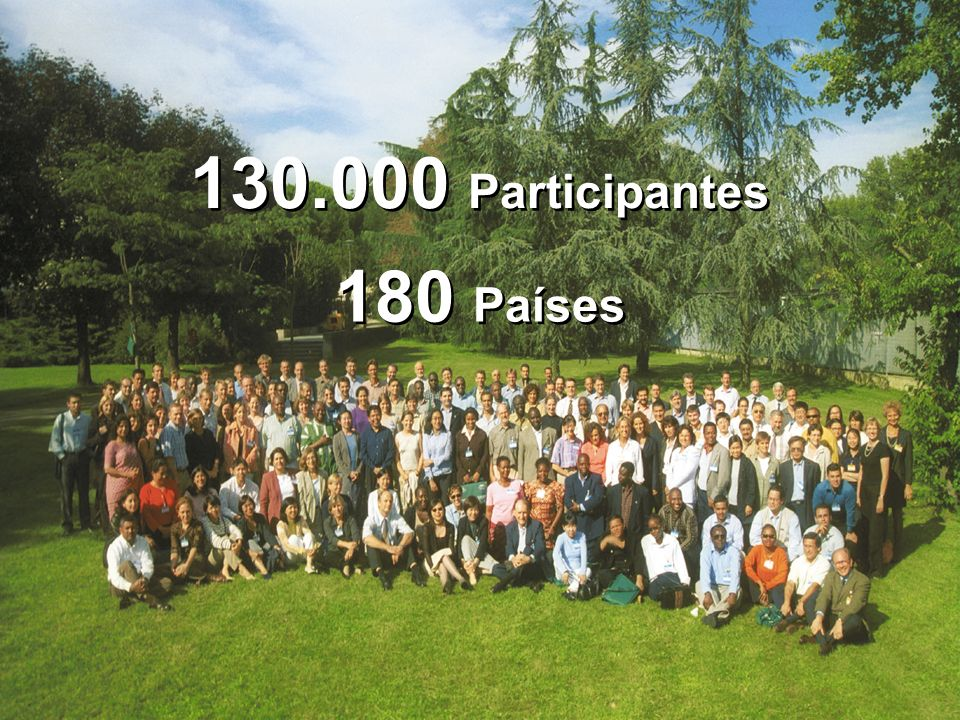 130.000 Participantes 180 Países