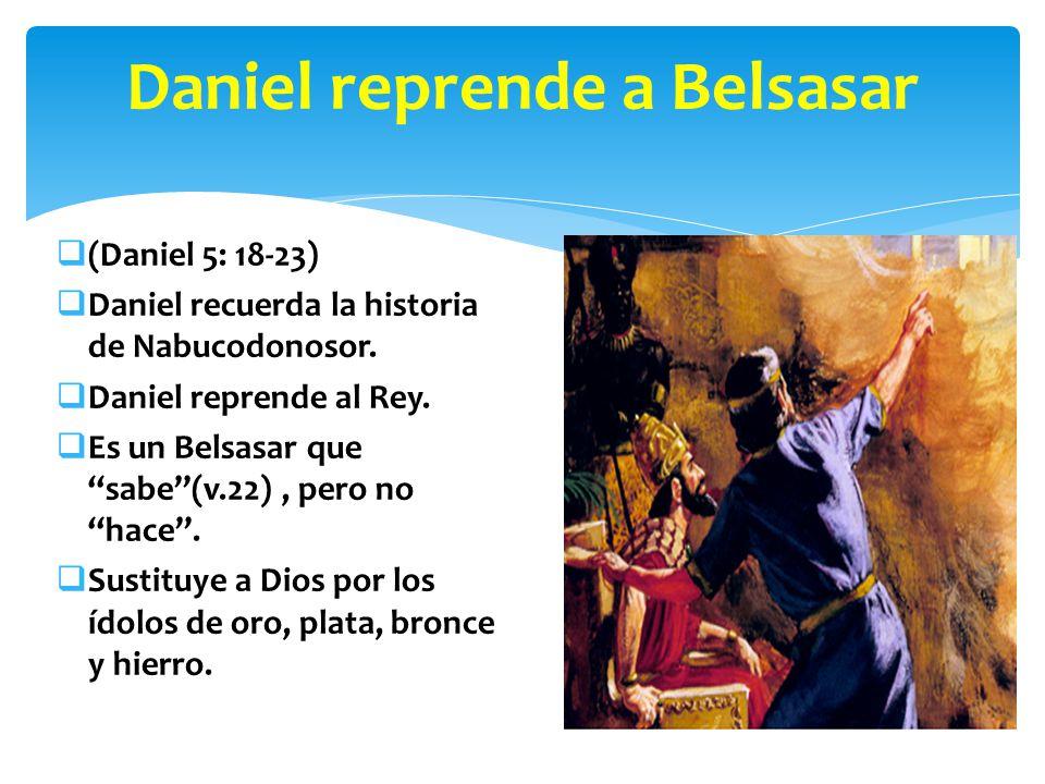 Daniel reprende a Belsasar