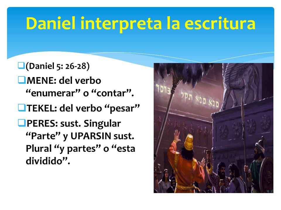 Daniel interpreta la escritura