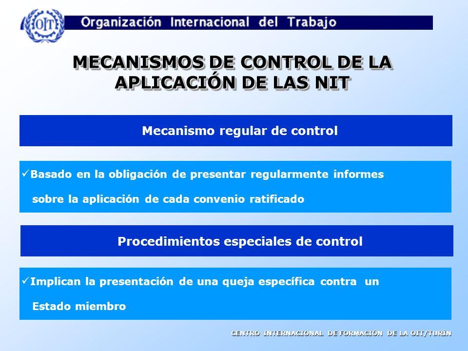 MECANISMOS DE CONTROL DE LA APLICACIÓN DE LAS NIT