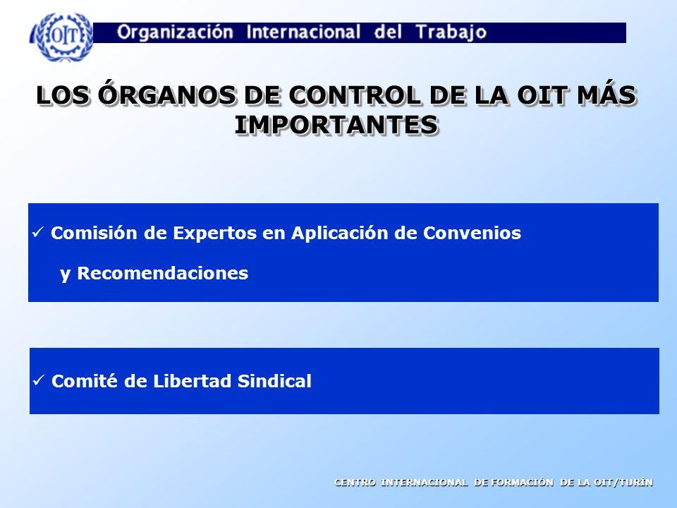 LOS ÓRGANOS DE CONTROL DE LA OIT MÁS IMPORTANTES