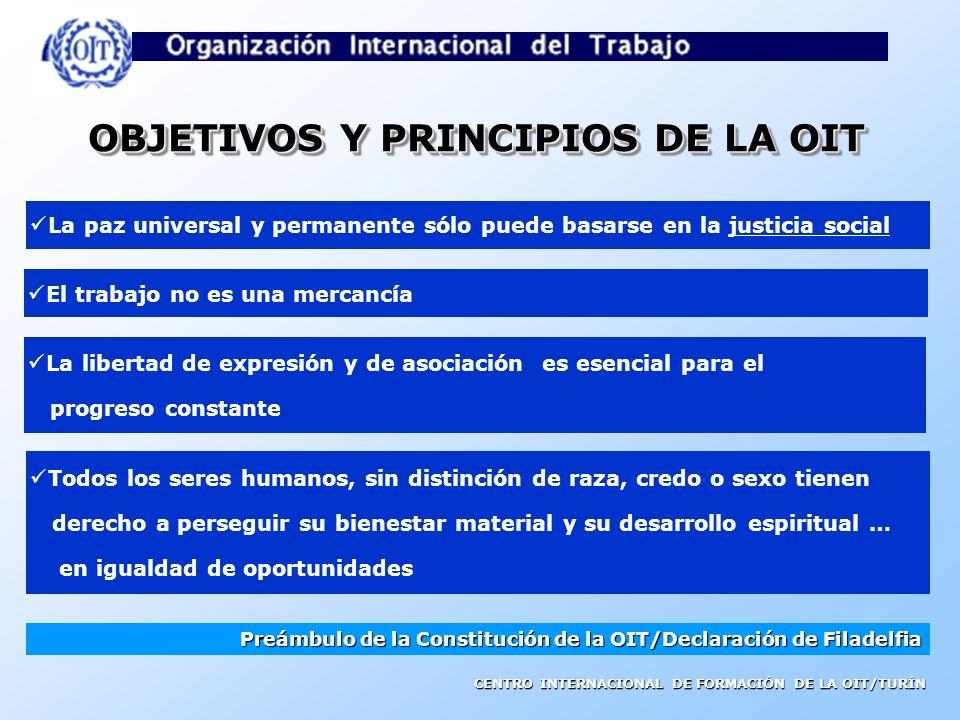 OBJETIVOS Y PRINCIPIOS DE LA OIT