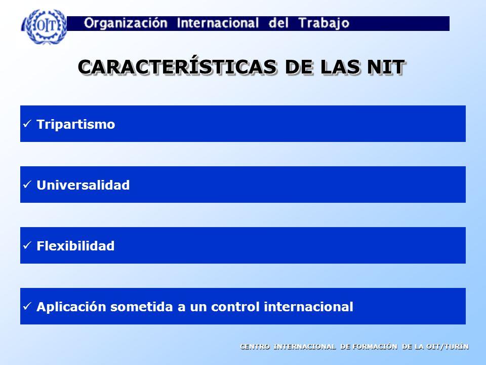 CARACTERÍSTICAS DE LAS NIT
