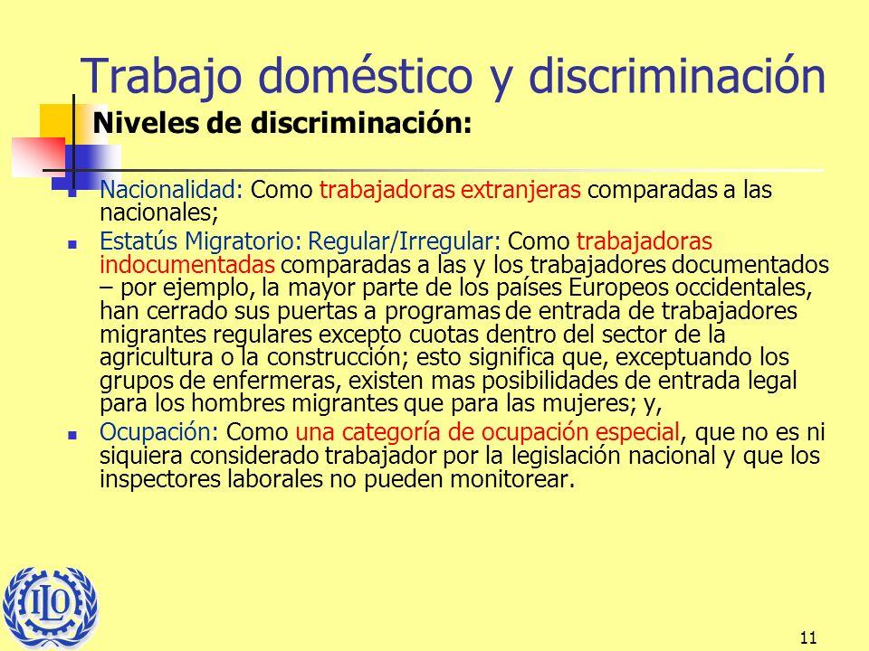 Trabajo doméstico y discriminación