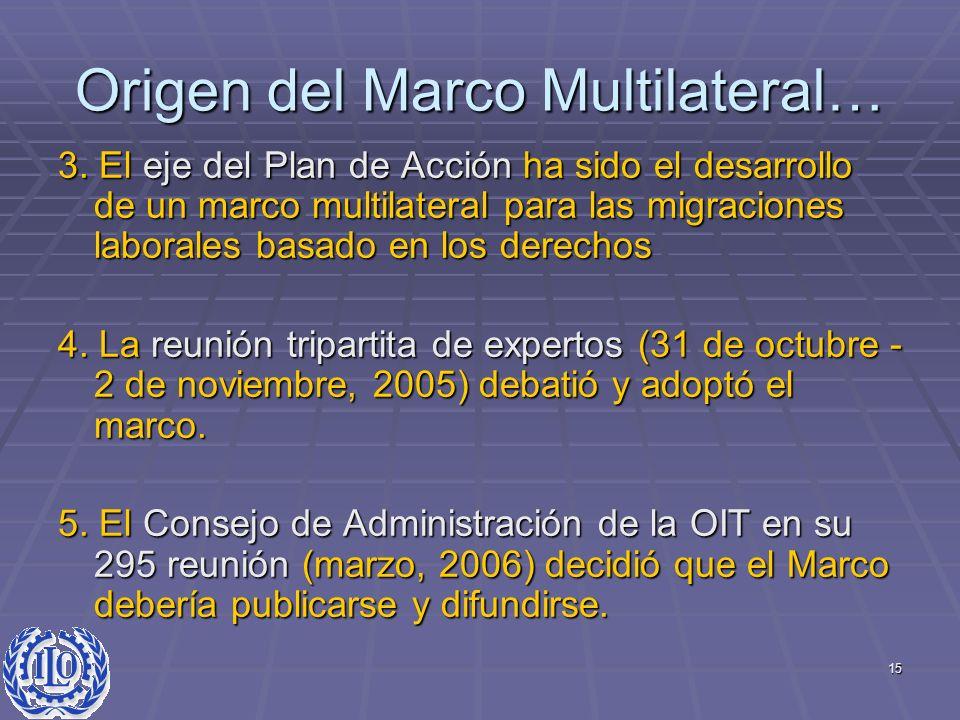 Origen del Marco Multilateral…