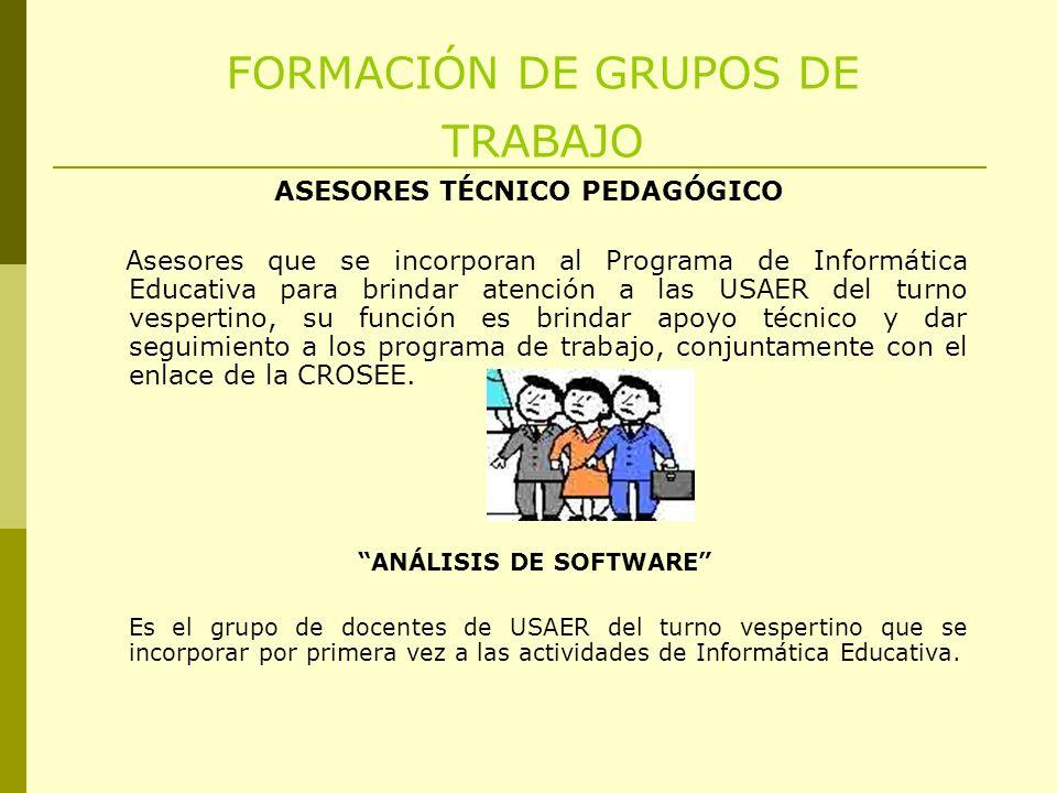 FORMACIÓN DE GRUPOS DE TRABAJO