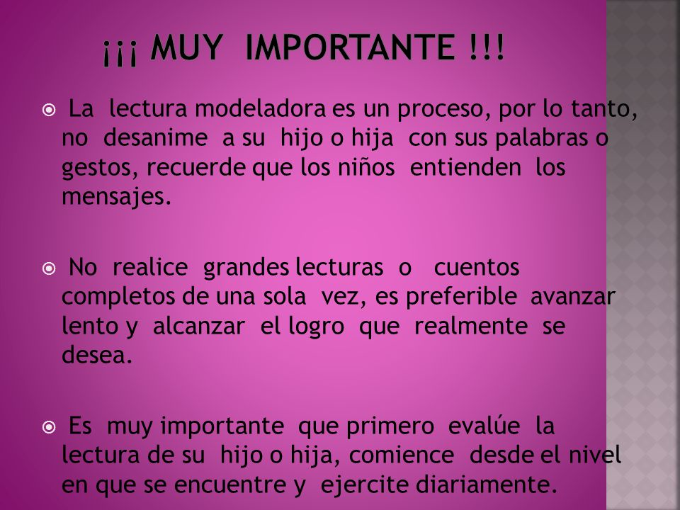 ¡¡¡ Muy importante !!!