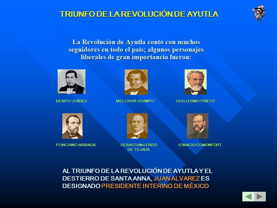 TRIUNFO DE LA REVOLUCIÓN DE AYUTLA