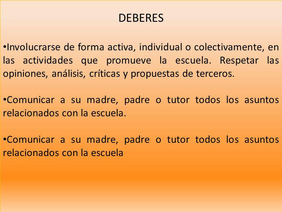 DEBERES