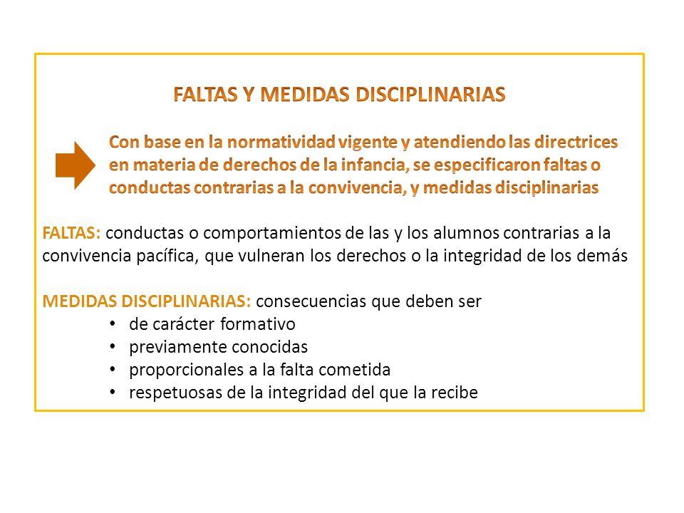 FALTAS Y MEDIDAS DISCIPLINARIAS