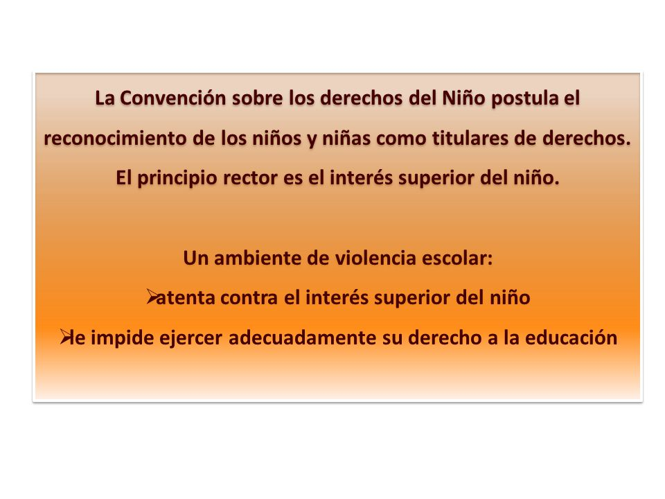 El principio rector es el interés superior del niño.