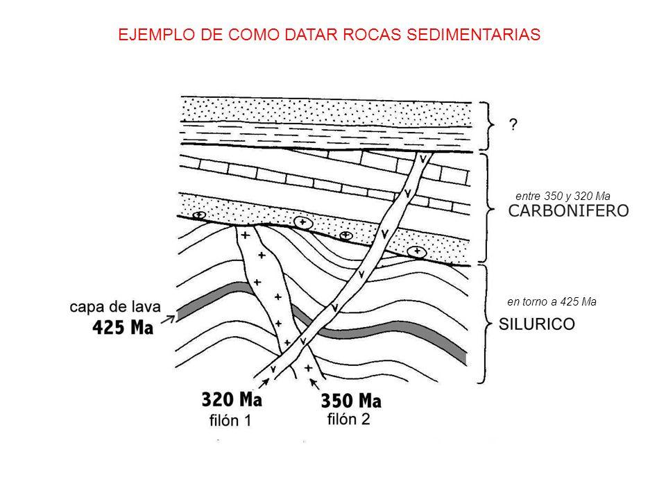 EJEMPLO DE COMO DATAR ROCAS SEDIMENTARIAS