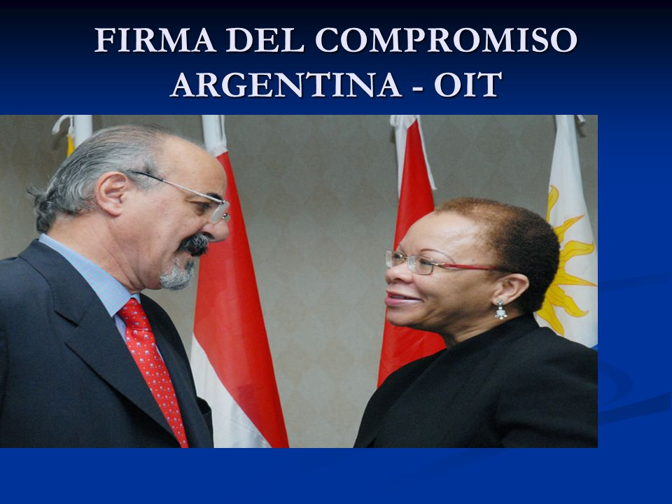 FIRMA DEL COMPROMISO ARGENTINA - OIT