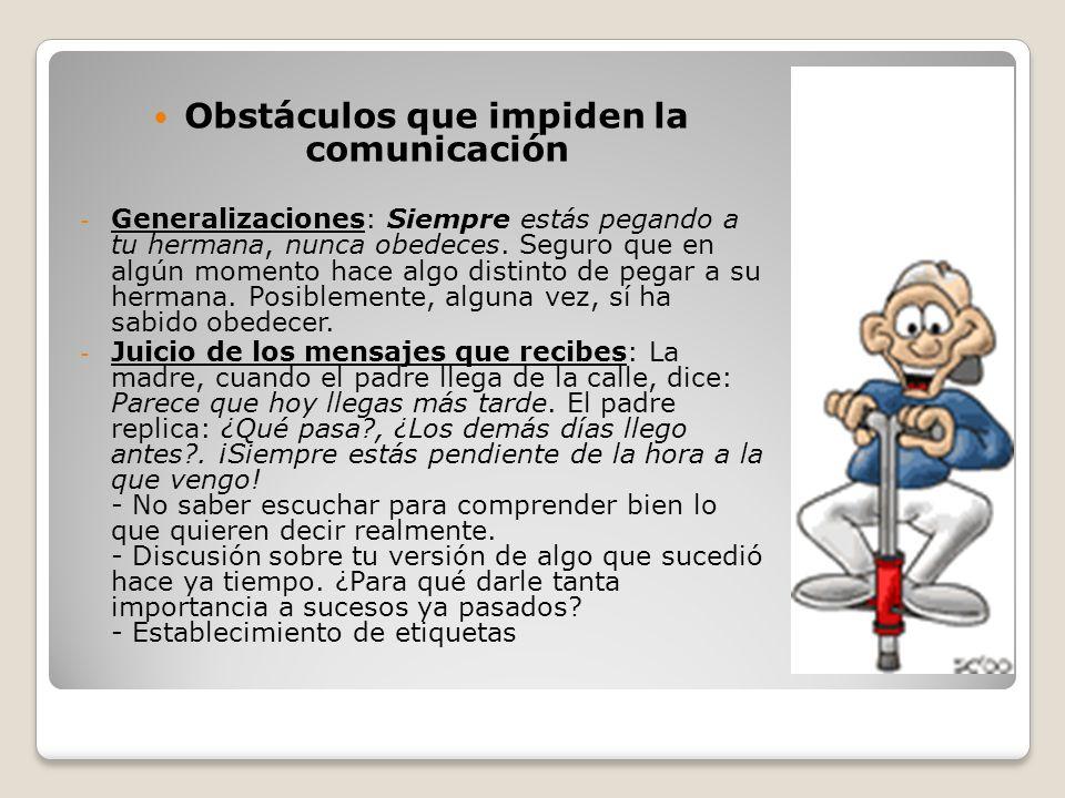 Obstáculos que impiden la comunicación