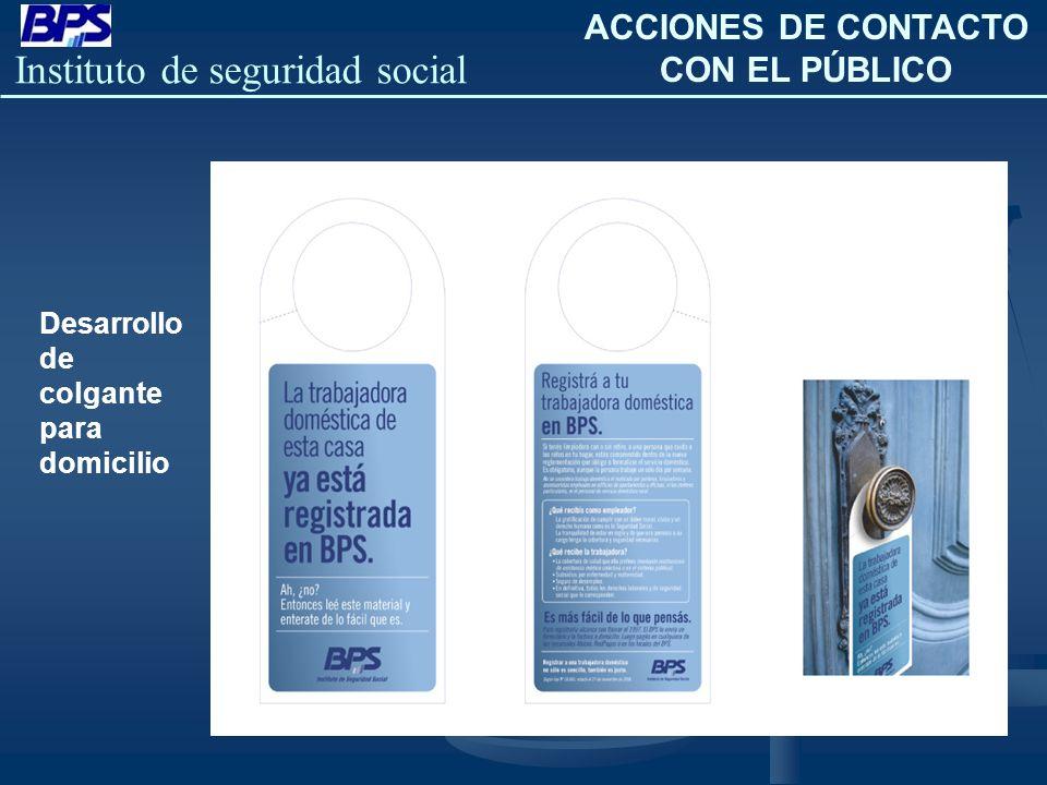 ACCIONES DE CONTACTO CON EL PÚBLICO
