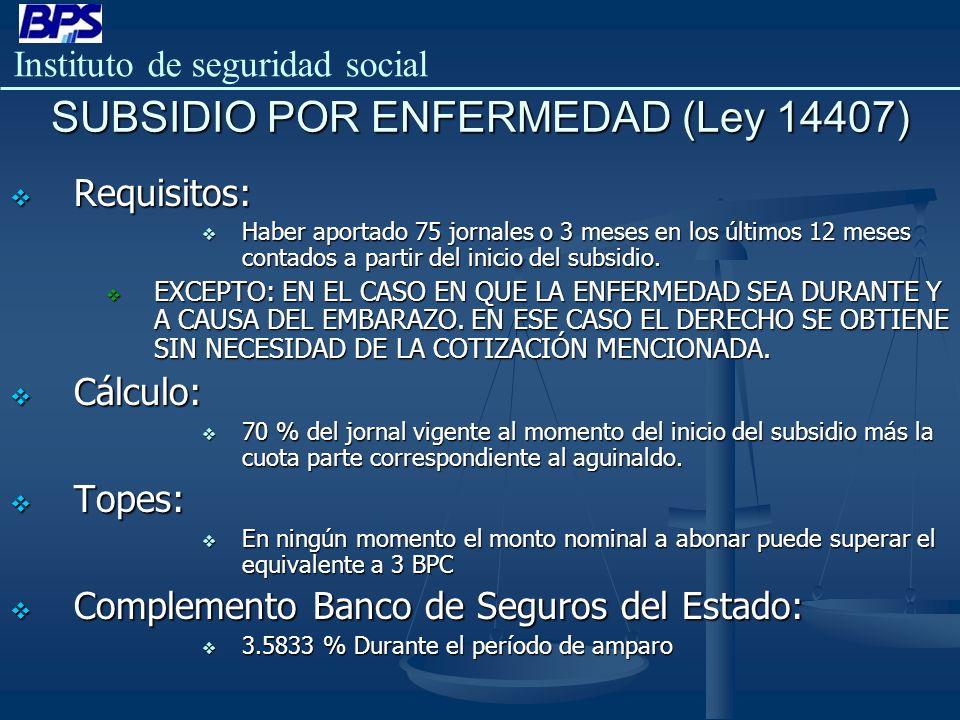 SUBSIDIO POR ENFERMEDAD (Ley 14407)