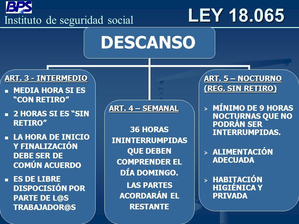 LEY 18.065