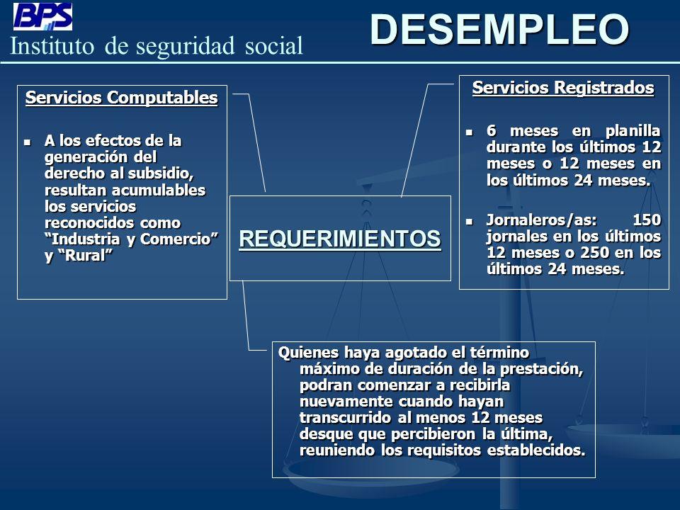 Servicios Registrados Servicios Computables
