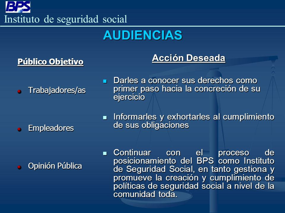 AUDIENCIAS Acción Deseada