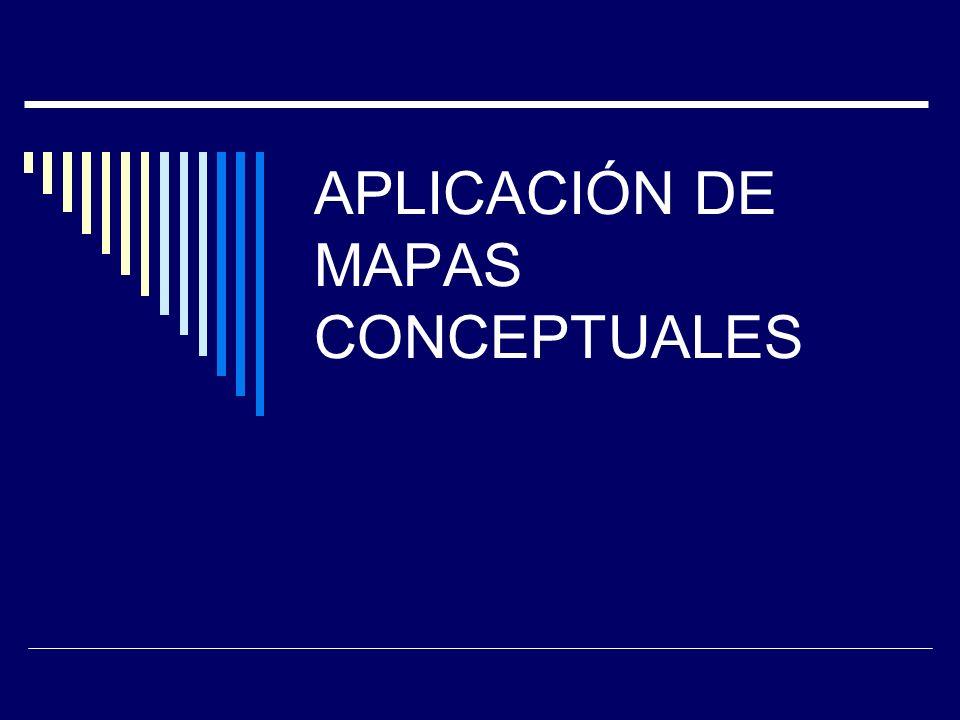 APLICACIÓN DE MAPAS CONCEPTUALES