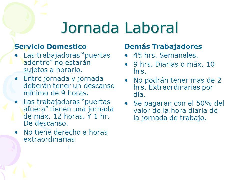 Jornada Laboral Servicio Domestico